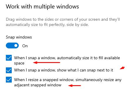 Work with multiple windows - select activate the ones you need and close the options window