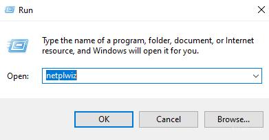 For open User Accounts use command: netplwiz