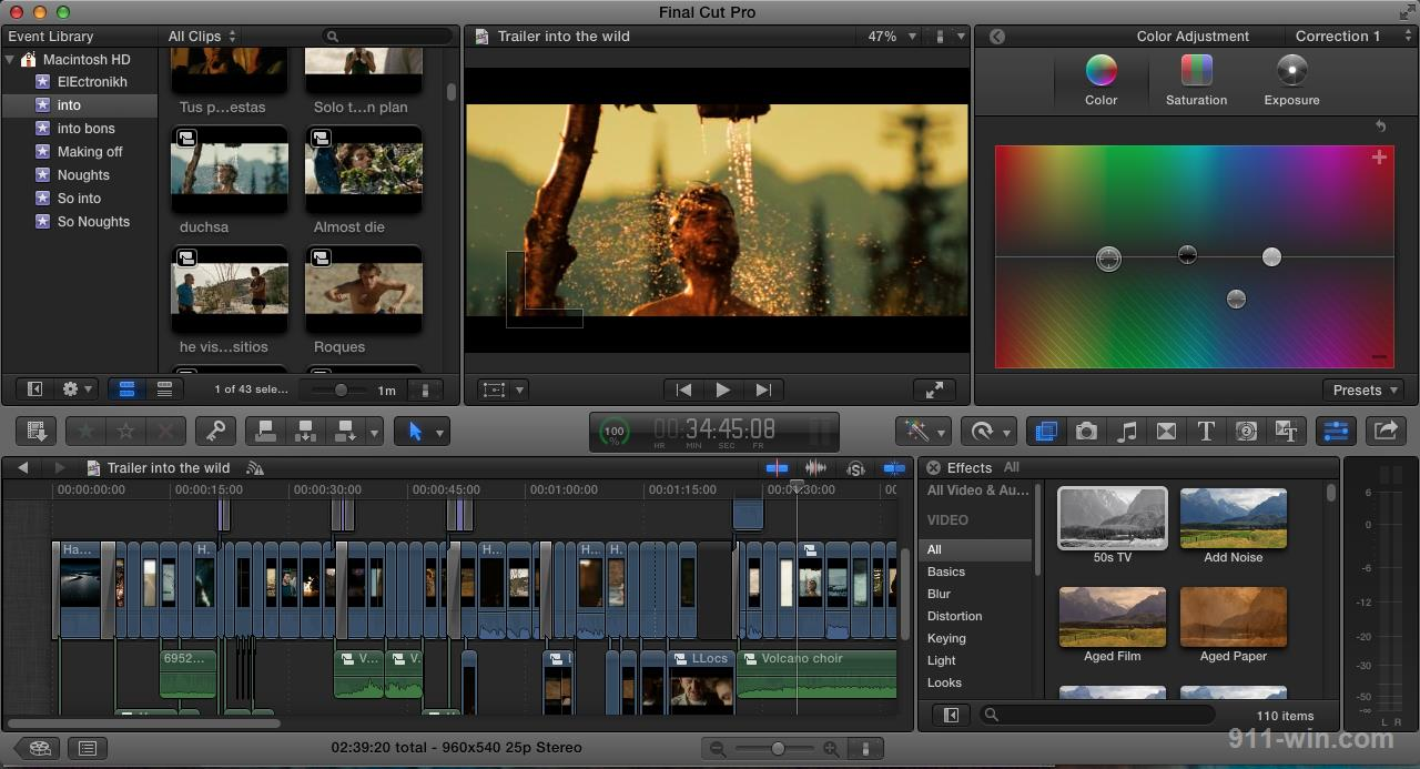 Final Cut Pro X - one of the Best Video Editing Software for Mac