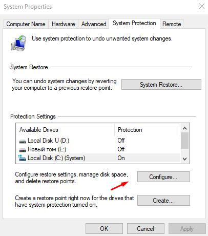 Configure Local Disk Protection