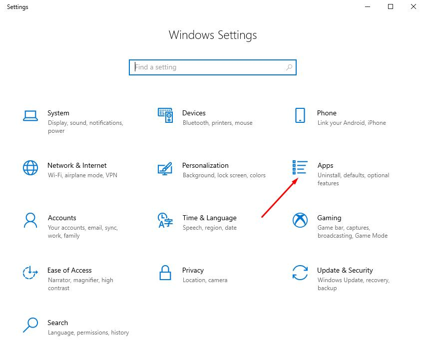 In Windows Settings open Apps for set startup programms