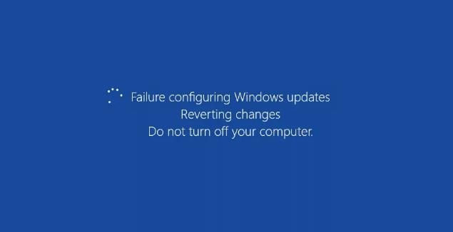 Windows Error: Failure configuring Windows updates. Reverting changes. Do not turn off your computer