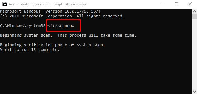 Use (sfc / scannow) for check system files