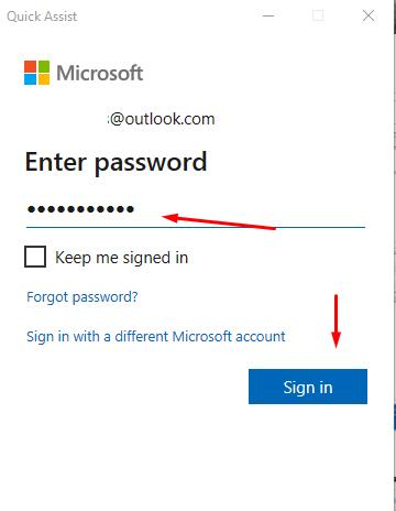 Enter password from you account to Microsoft