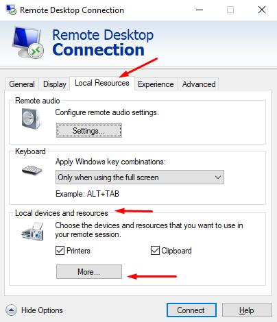 How to Transfer Files over RDP connection