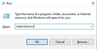 Open Windows Task Scheduler with taskschd.msc command