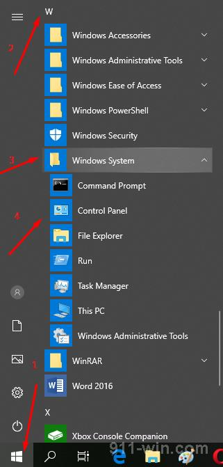 Where is the Control Panel on Windows 10